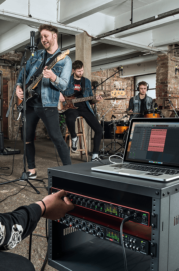 Record the band with your Focusrite Scarlett 18i20 interface