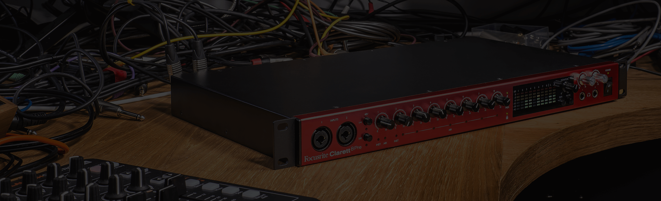 Clarett 8Pre in a studio environment