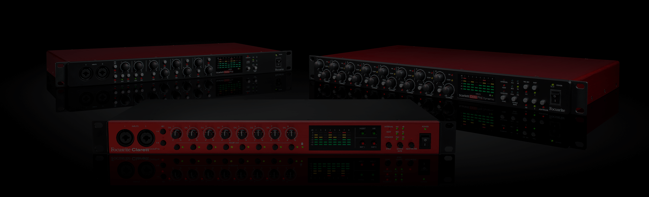 Image of three ADAT expansion interfaces