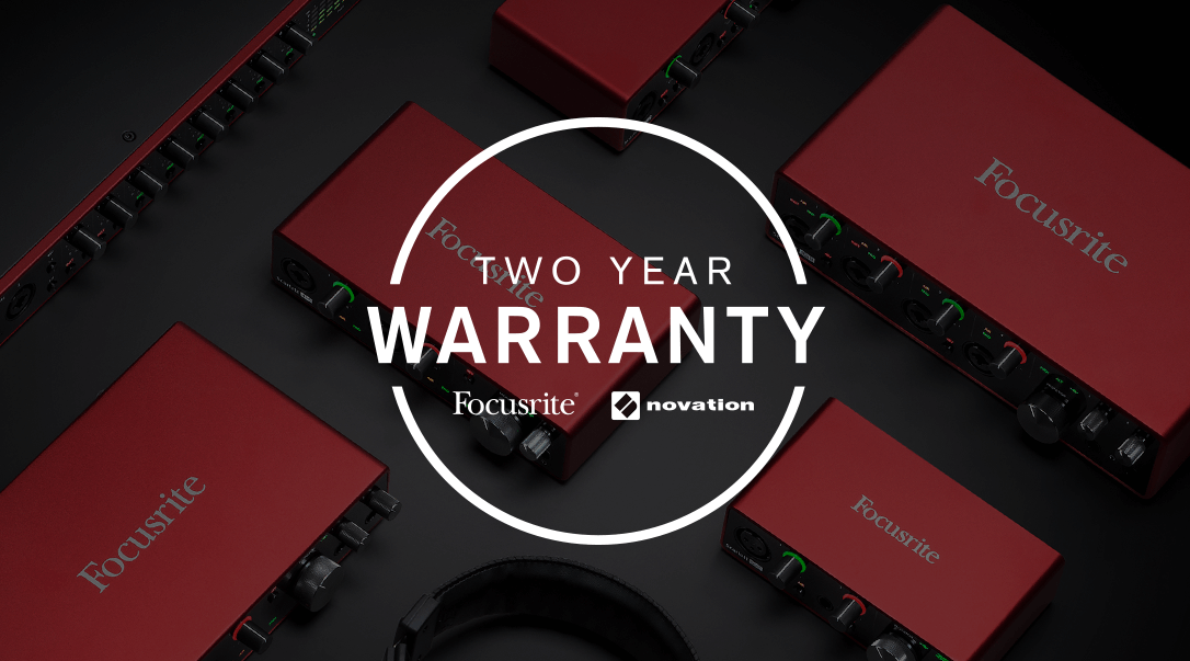 FOCUSRITE Scarlett 2-year Warranty
