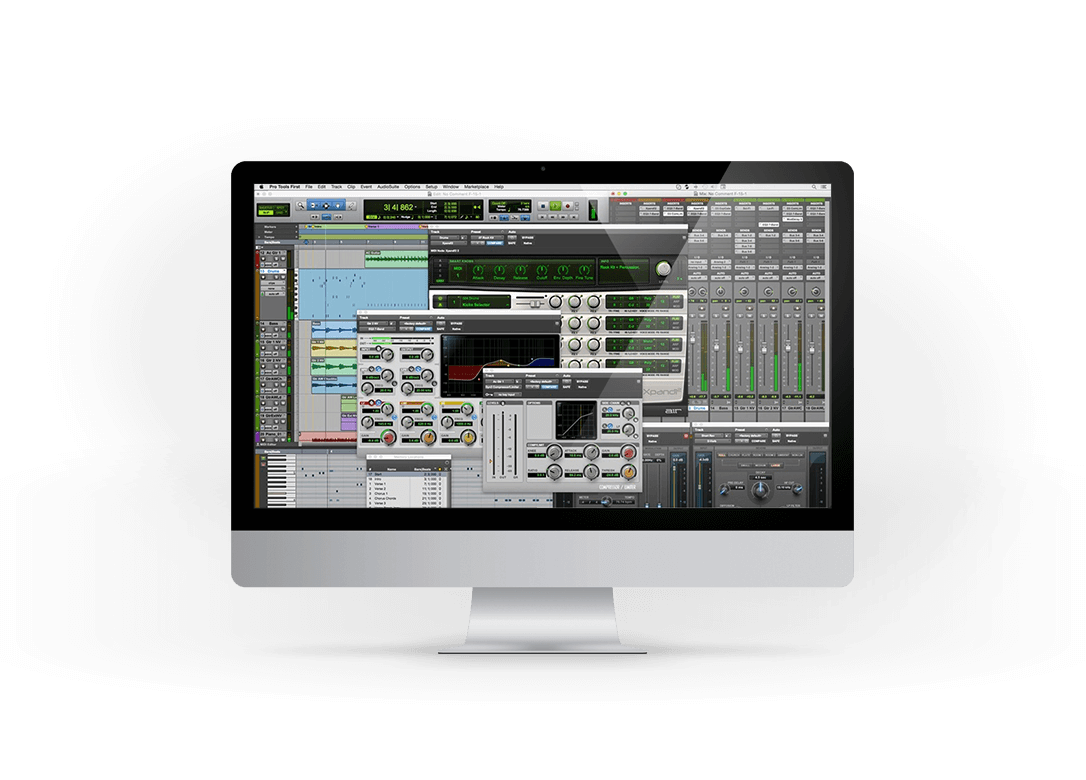 Screenshot of Pro Tools | First