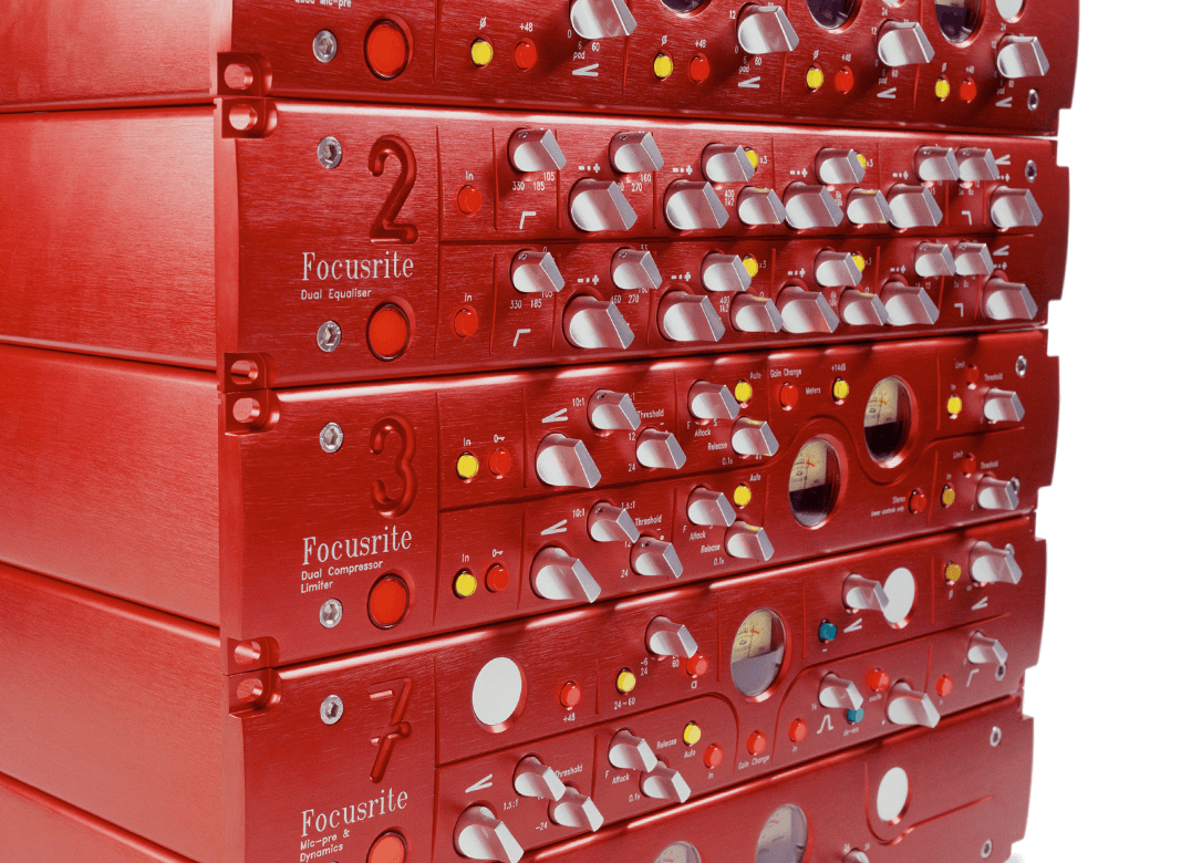 Stack of original Focusrite Red Outboard units