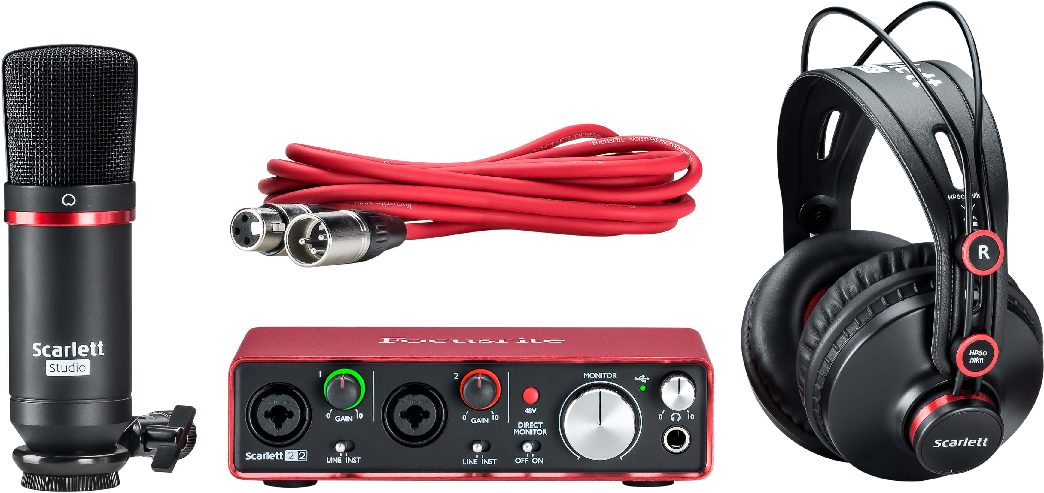 Scarlett 2i2 Studio Focusrite In Addition Xlr Microphone Wiring Diagram Further Connector Your Complete Home Recording