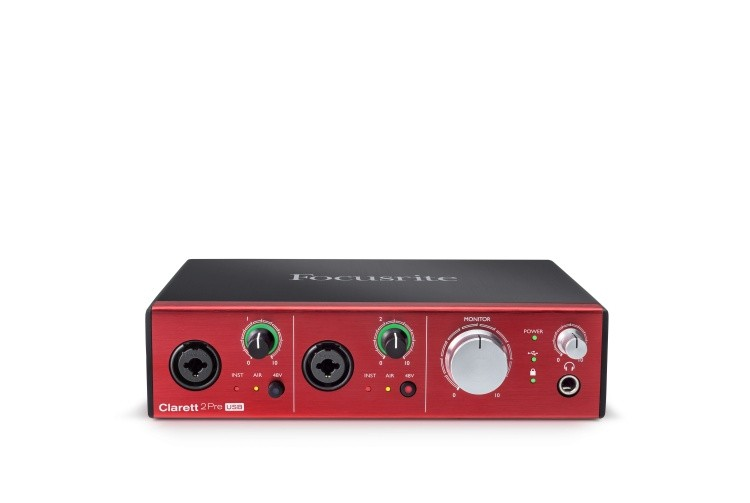 Clarett 2Pre USB Front elevated